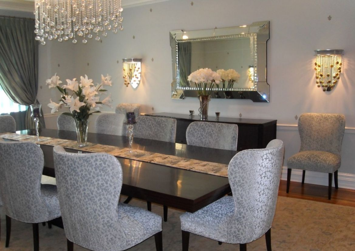 Mirror In Dining Room Interior Design Home Decor Placement Large Layjao