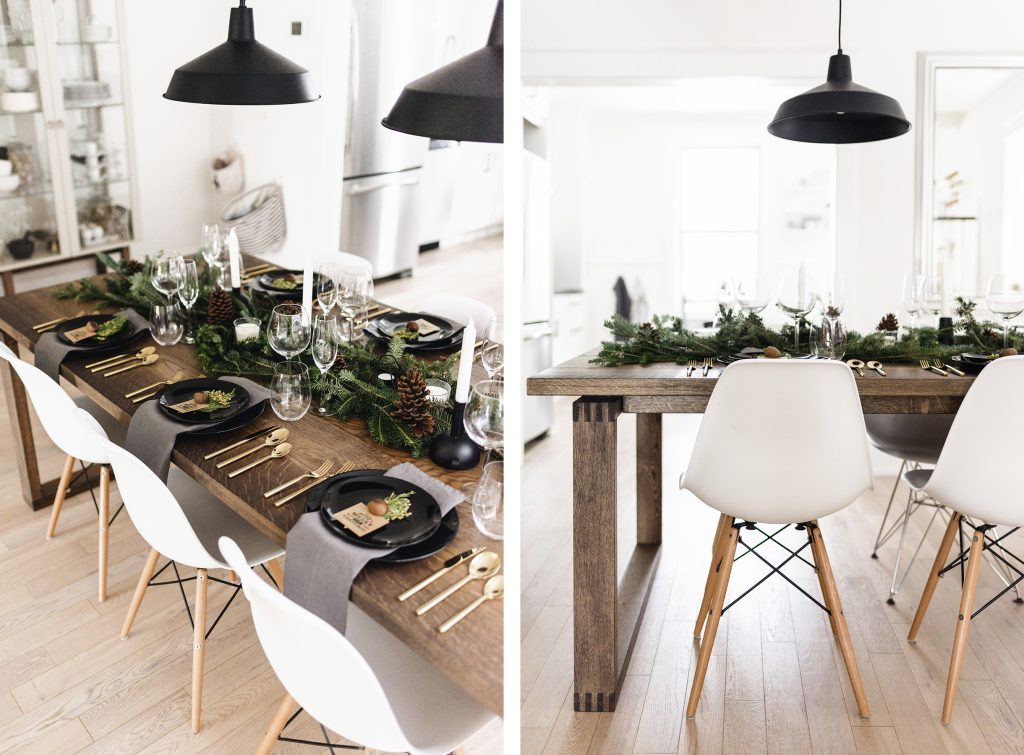 Modern Classy Christmas Tablescape Happy Grey Lucky