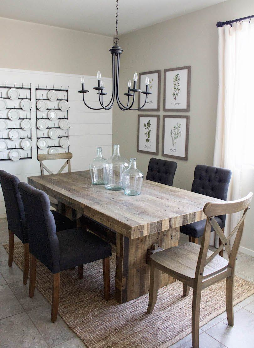 Modern Farmhouse Dining Room Diy Shiplap Home Sweet Home In 2019