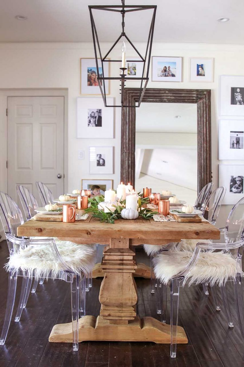 Modern Farmhouse Fall Dining Room Fall Home Tour Modern Glam
