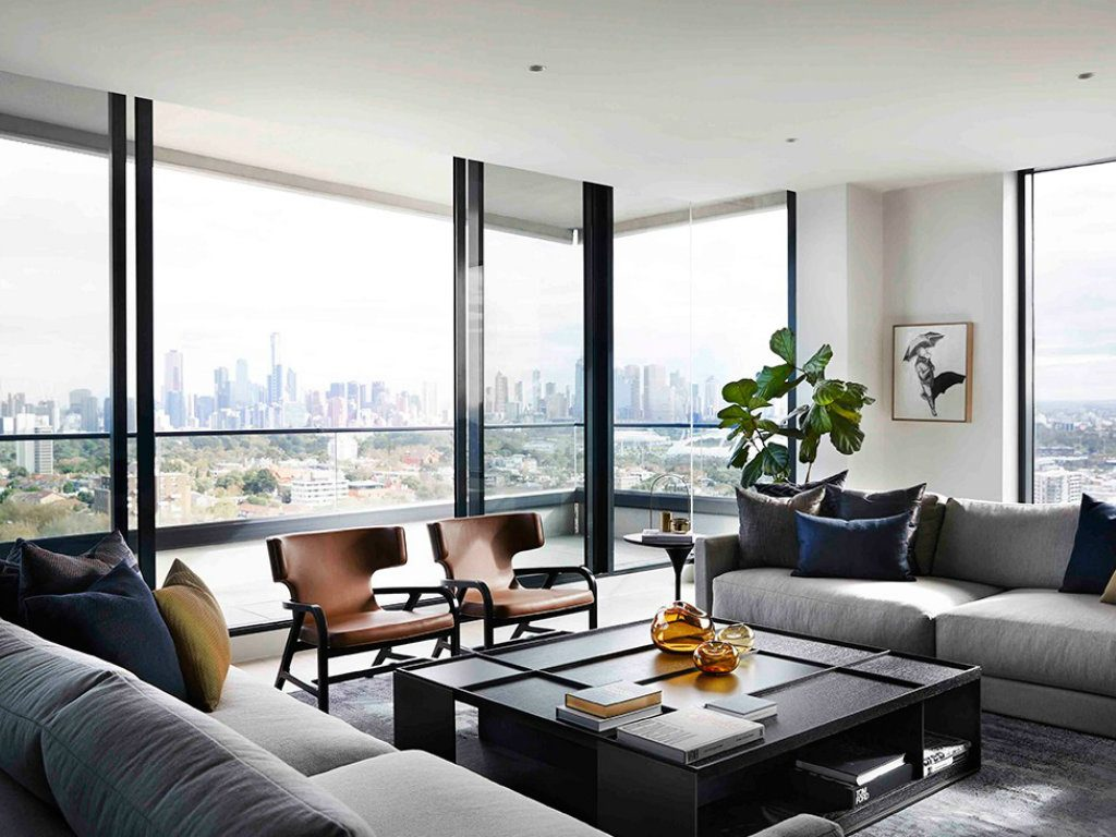 Modern Penthouse Over Melbournes Skyline