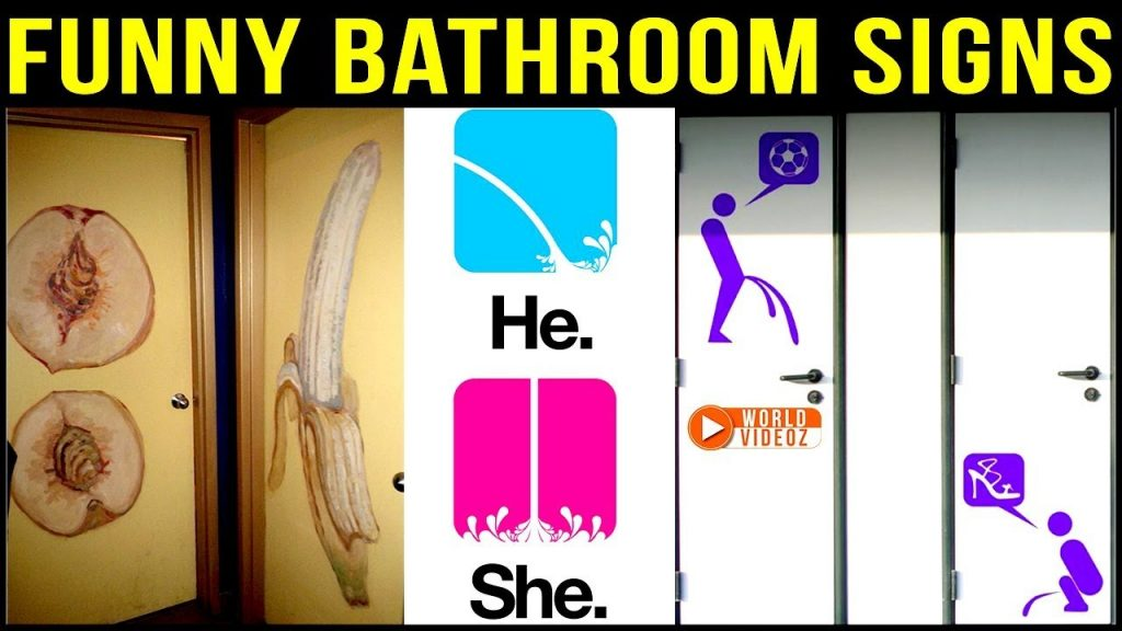 Most Funny Bathroom Signs Funny Toilet Signs World Videoz
