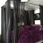Purple Sheer Canopy Bed Curtains