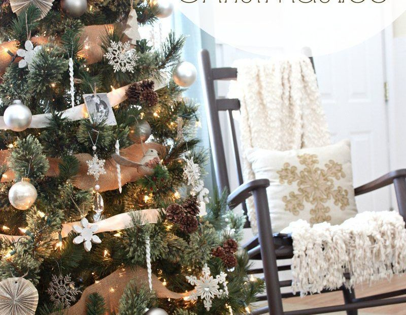 Neutral Rustic Glam Christmas Tree Love Of Family Home