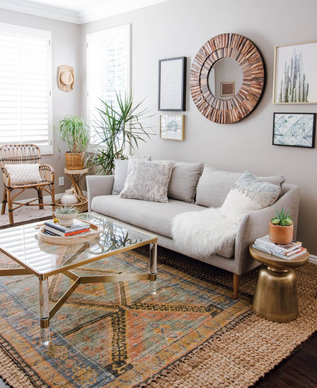 No Make Up Home Tour Series 2018 Living Room Eclectic Living
