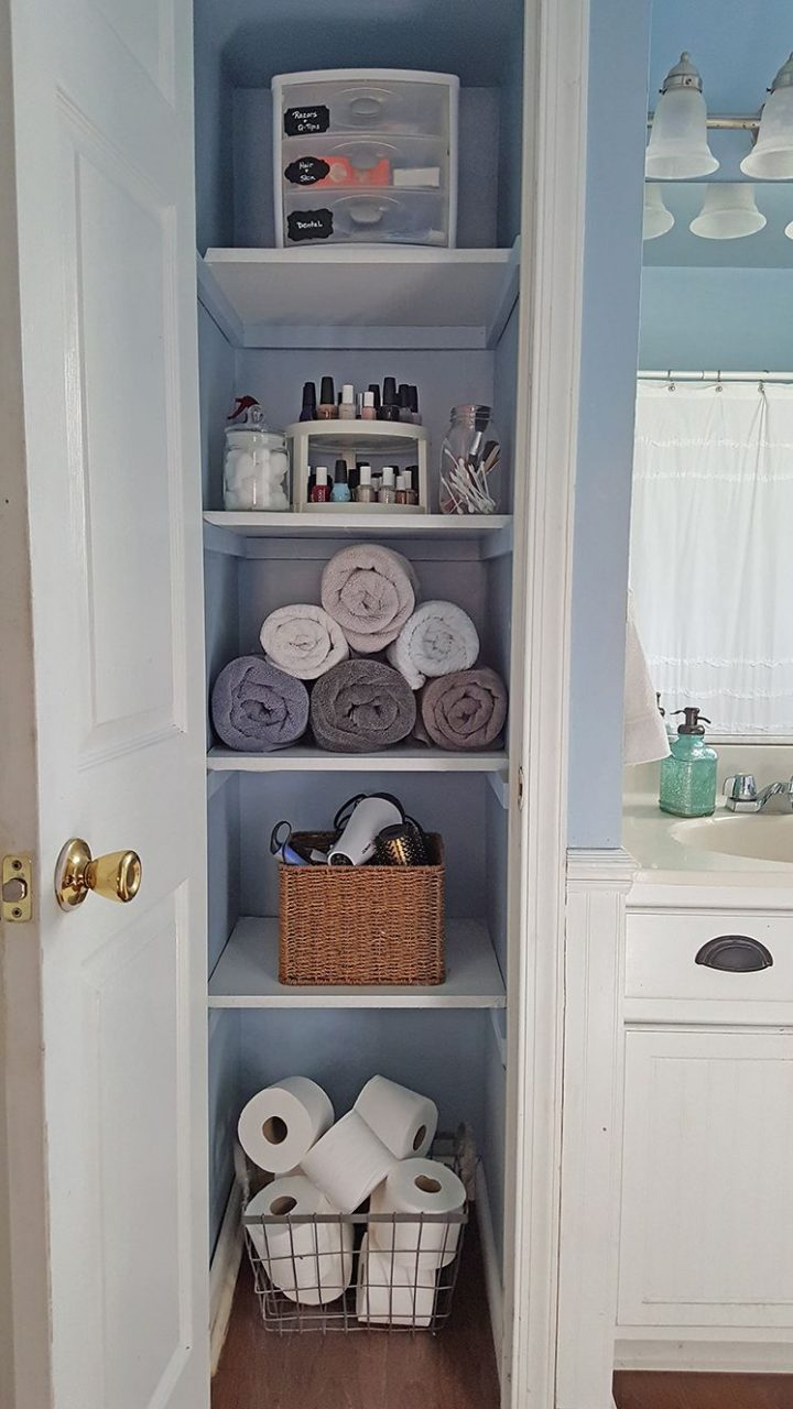 Organized Linen Closet Diyfirst Home First Apartment Decorating