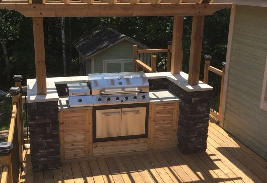 Outdoor Bbq Island Built On My Parents Deck In Muskoka Projects