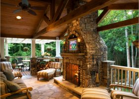 Deck with Fireplace