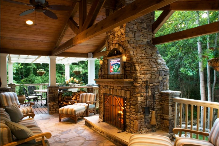 Outdoor Deck Fireplace Table Daringroom Escapes Get Weather