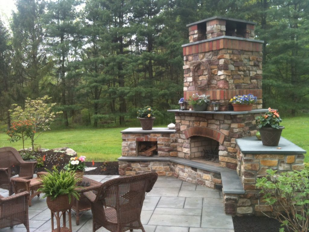 Outdoor Fireplace Pictures Brick Daringroom Escapes Cozy Style