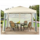 Outdoor Gazebo Canopy Pergola Portable Tent Backyard Netting Patio
