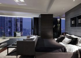 Contemporary Bedroom Penthouse