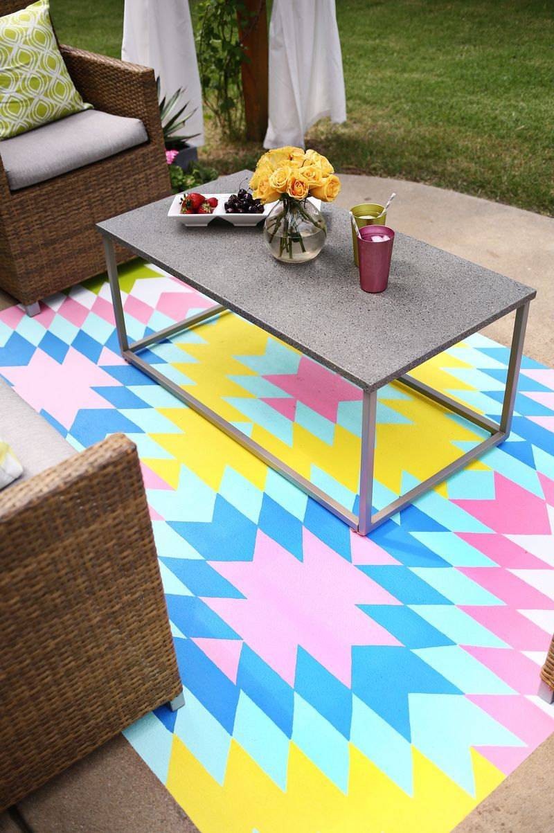 Paint Your Own Outdoor Rug Homeapartmentdorm Painted Rug