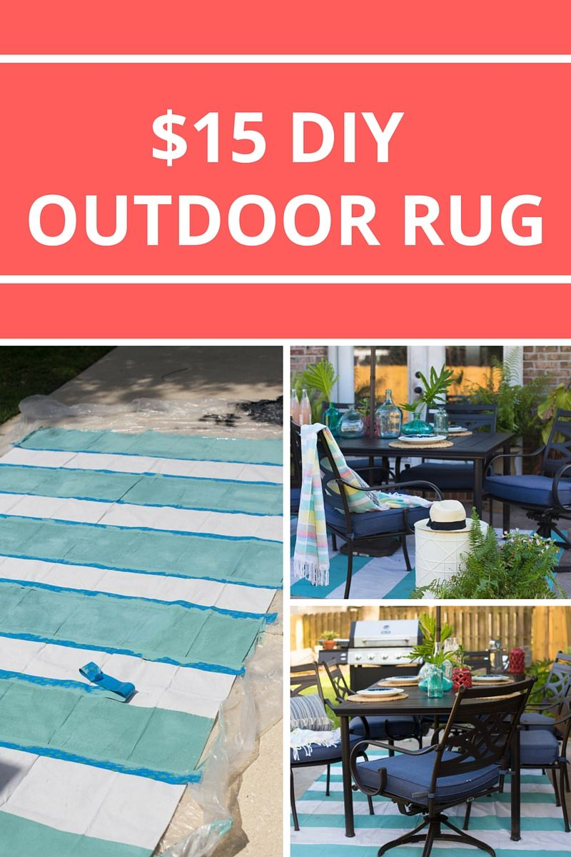 Painted Rug From A Drop Cloth Patio Style Challenge Painted Rug