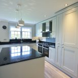Partridge Grey Units With Black Granite Worktops Up Stands And