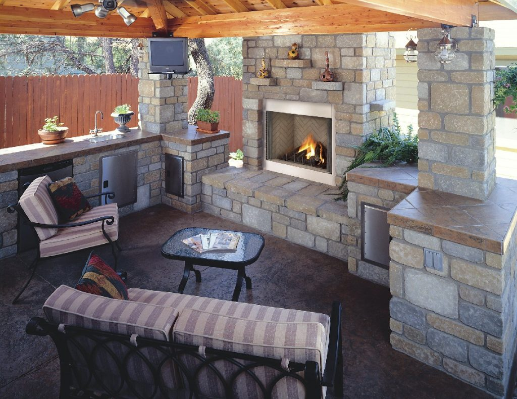 Patio Fireplace Designs 6352
