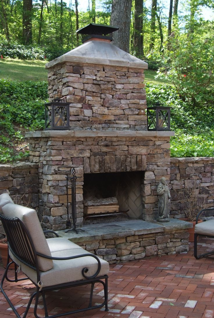 Patio Fireplaces Pictures Patiofireplace Portfolio Brick Patio