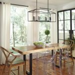 Linear Chandelier Dining Room