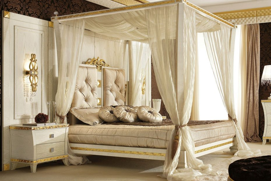 Picture Of Superb Canopy Frame Modern Bed Curtains Decorating Idea