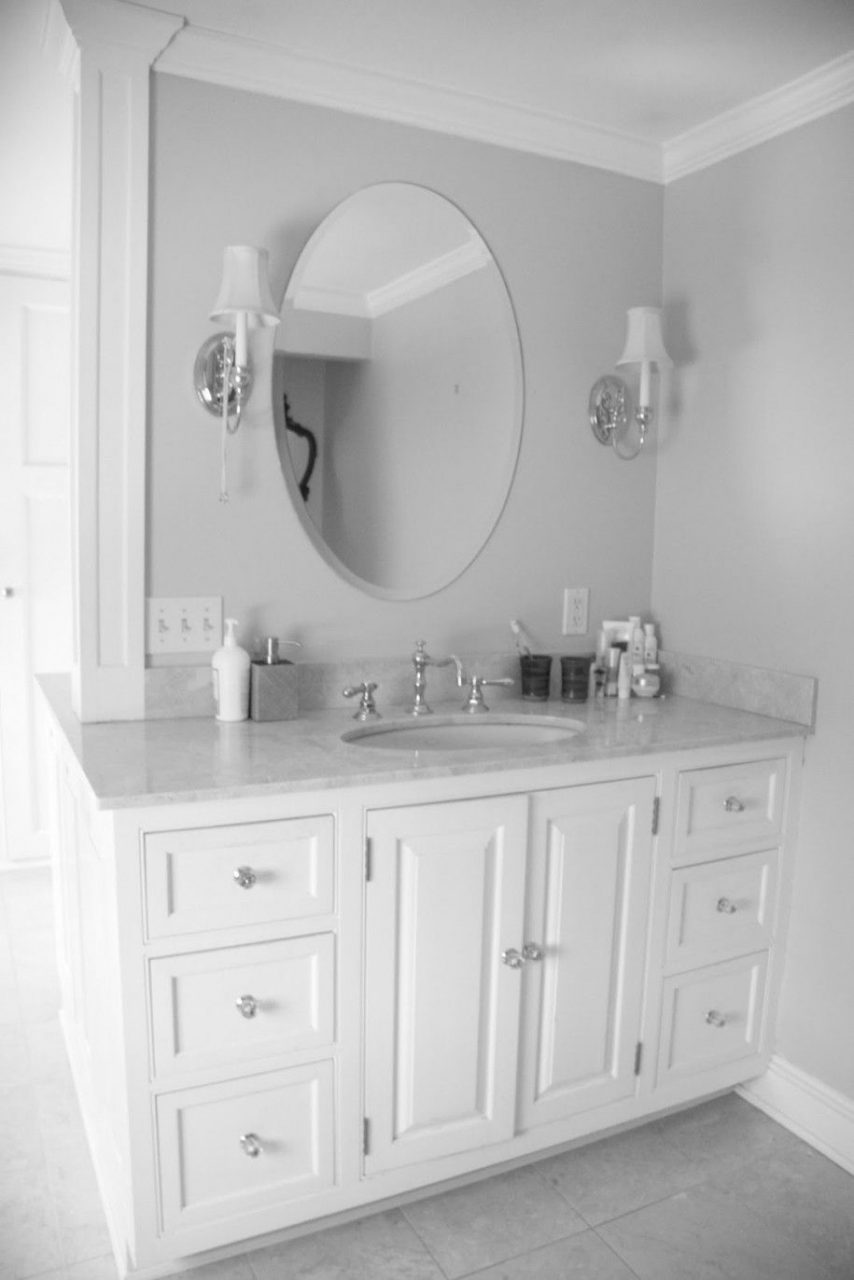 Pretty White Bathroom Vanities Lowes Luxury Bathroom Oval Mirror