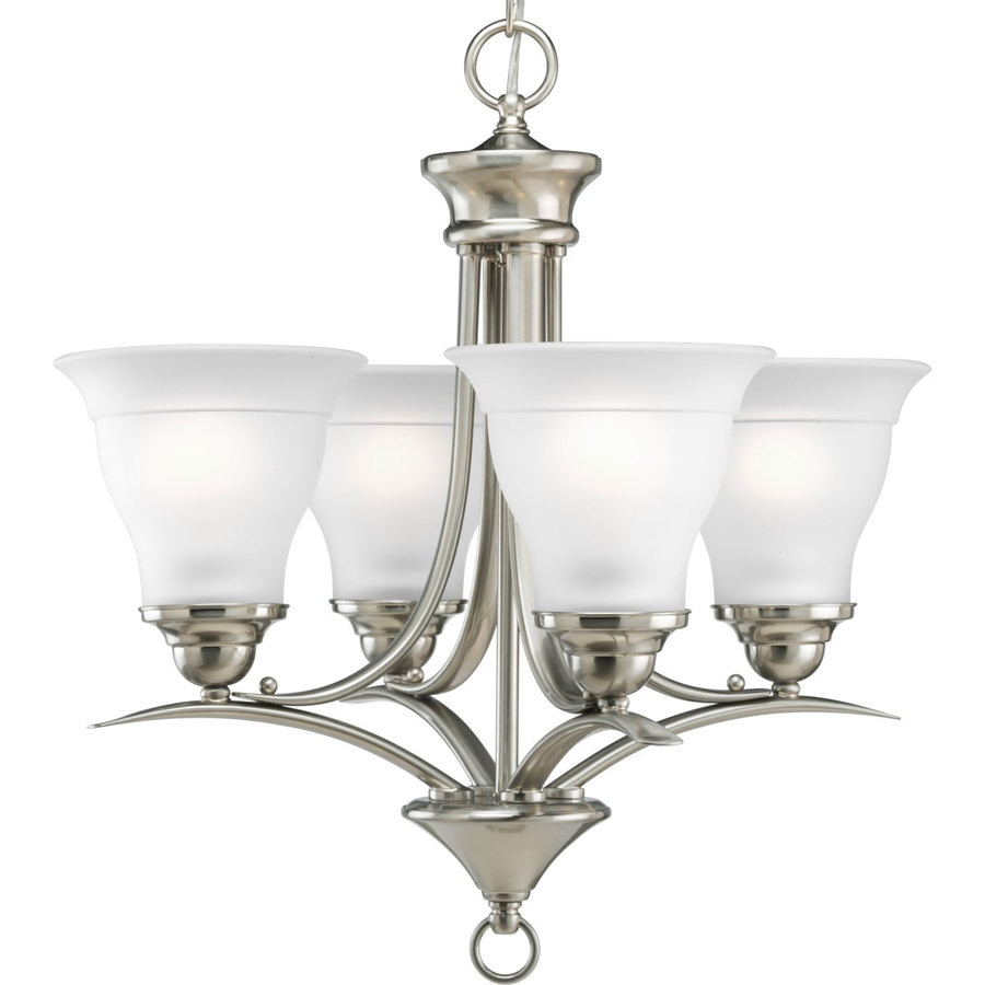 Progress Lighting Trinity 4 Light Brushed Nickel Transitional Etched
