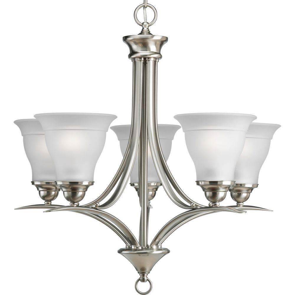 Progress Lighting Trinity 5 Light Brushed Nickel Chandelier