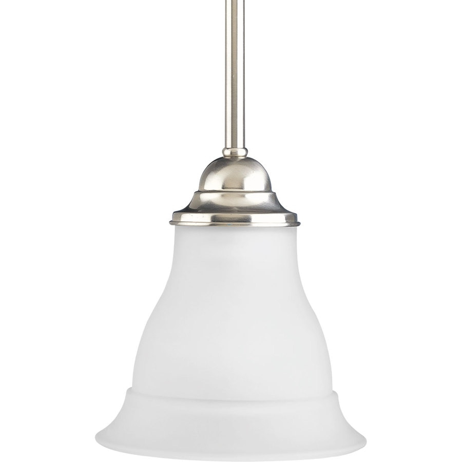 Progress Lighting Trinity Brushed Nickel Mini Transitional Etched