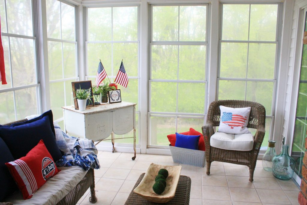 Red White And Blue In The Sunroom One Thousand Oaks