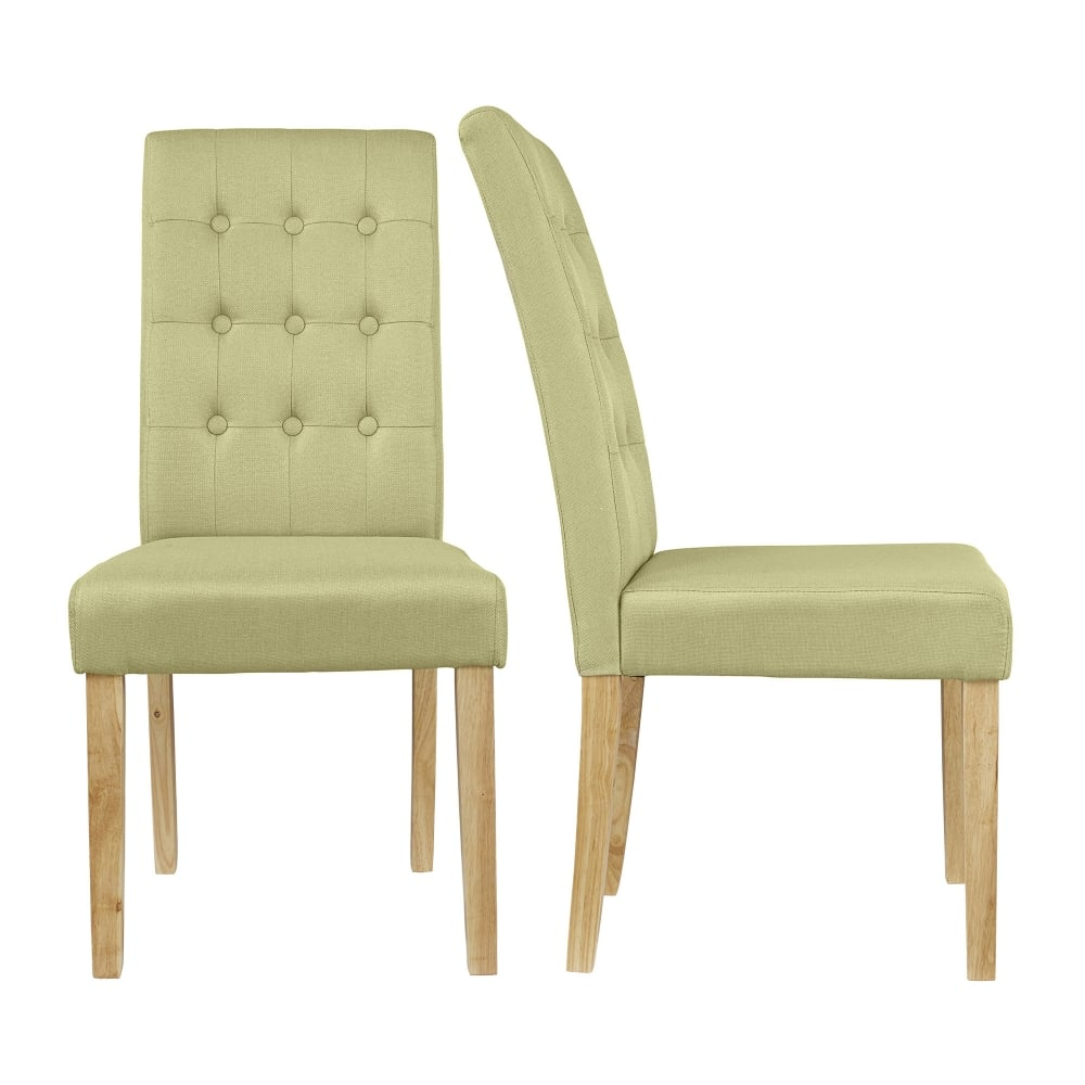 Roma Green Dining Chair Pair