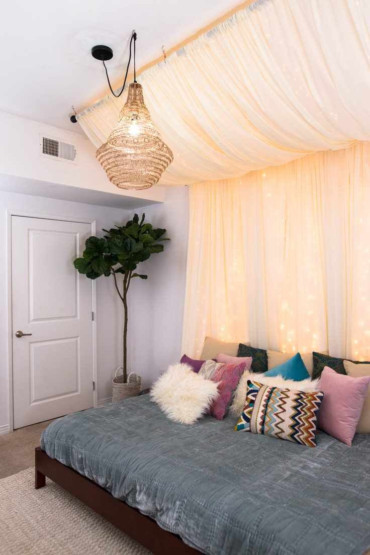 Romantic Diy Bed Canopies On A Budget The Budget Decorator