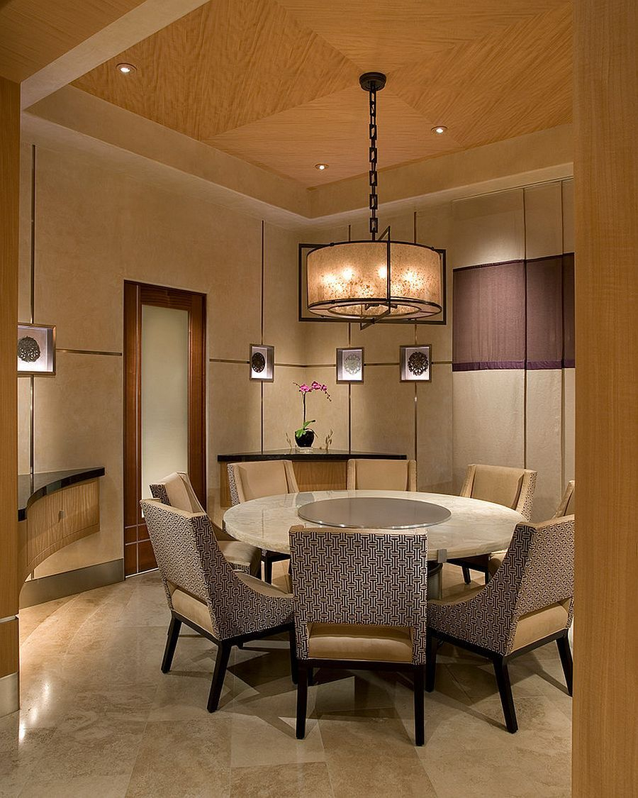 Round Dining Table For The Asian Style Dining Room Chinese Dinning