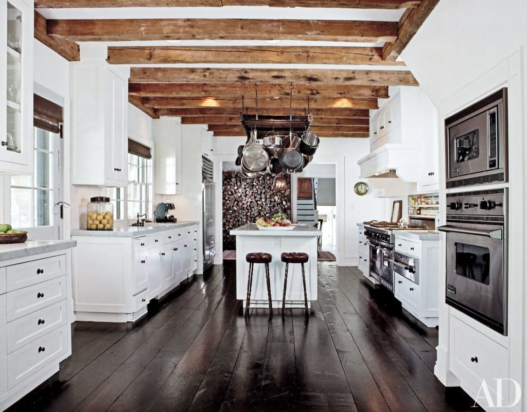 Rustic Garage Floors Modern White Kitchens With Dark Wood Floors