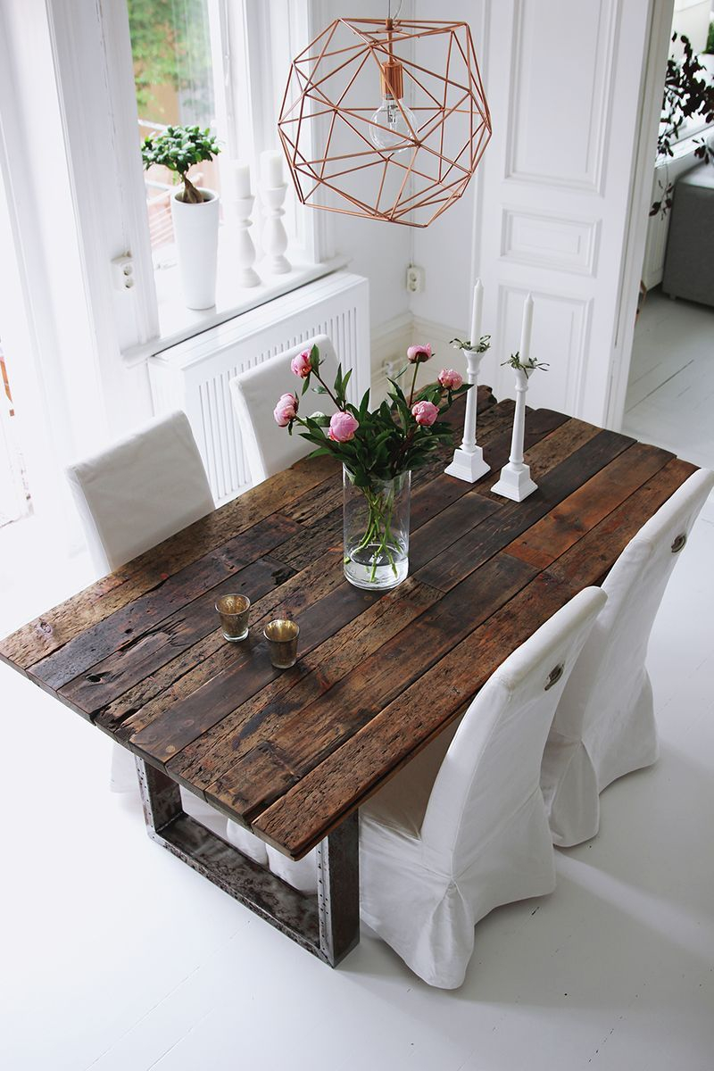 Rustic Table Kikise Industrial Design Dining Table