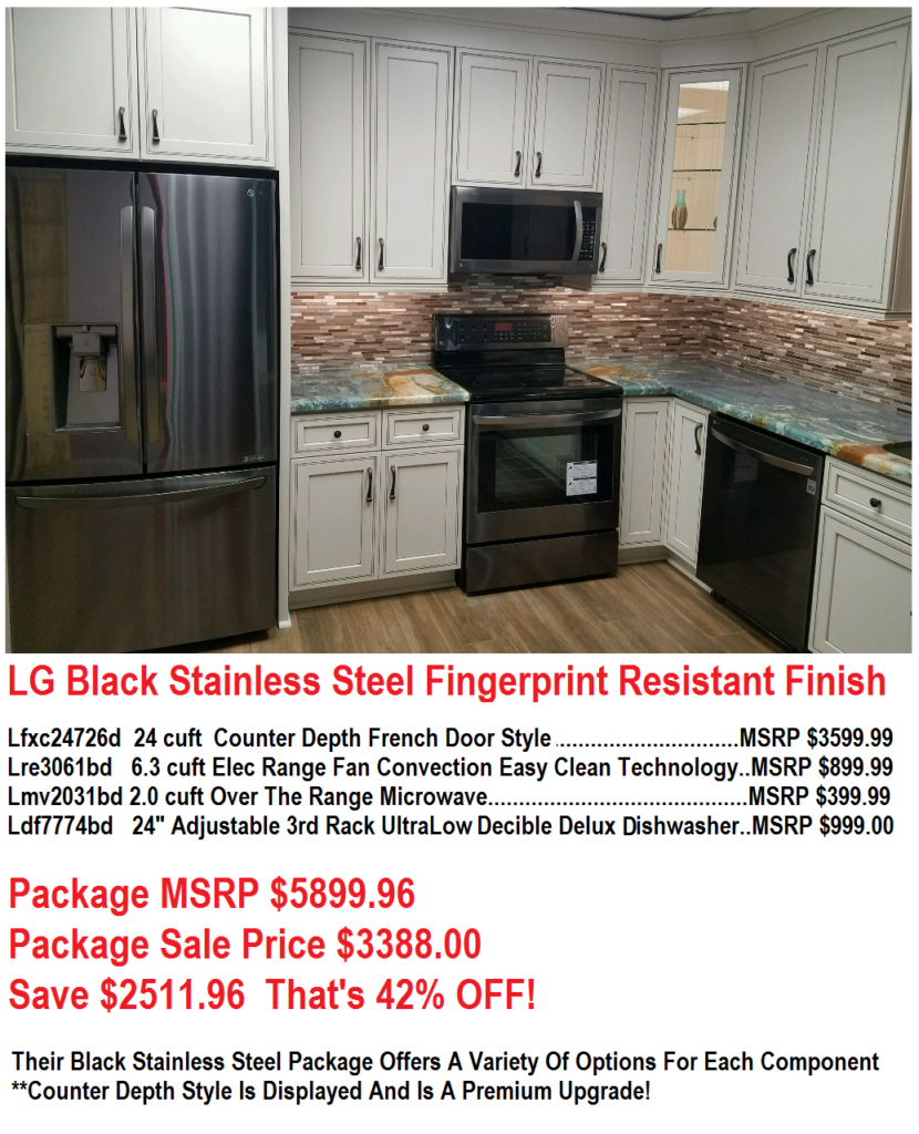 Save 2500 Lg Black Stainless Kitchen Appliance Package Sale