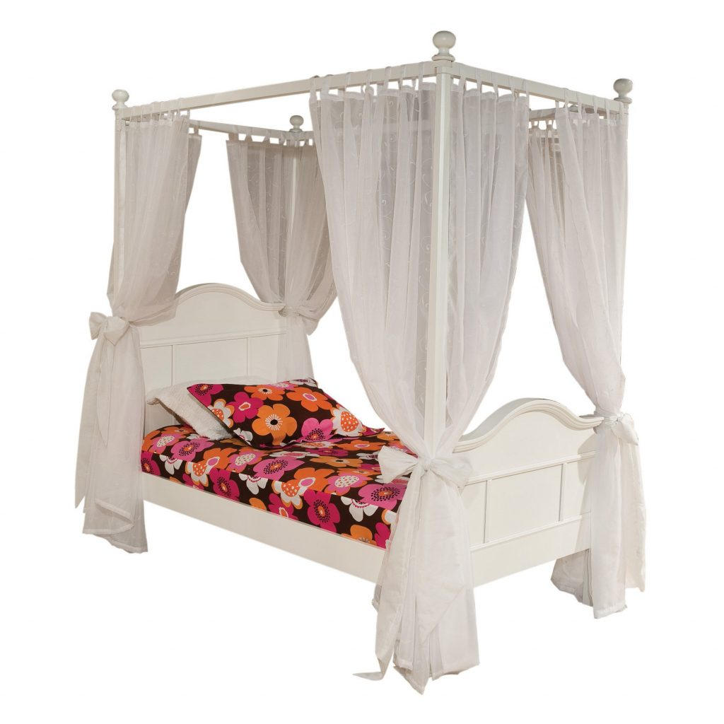Shab Chic Canopy Beds For Girls Kiakiyo