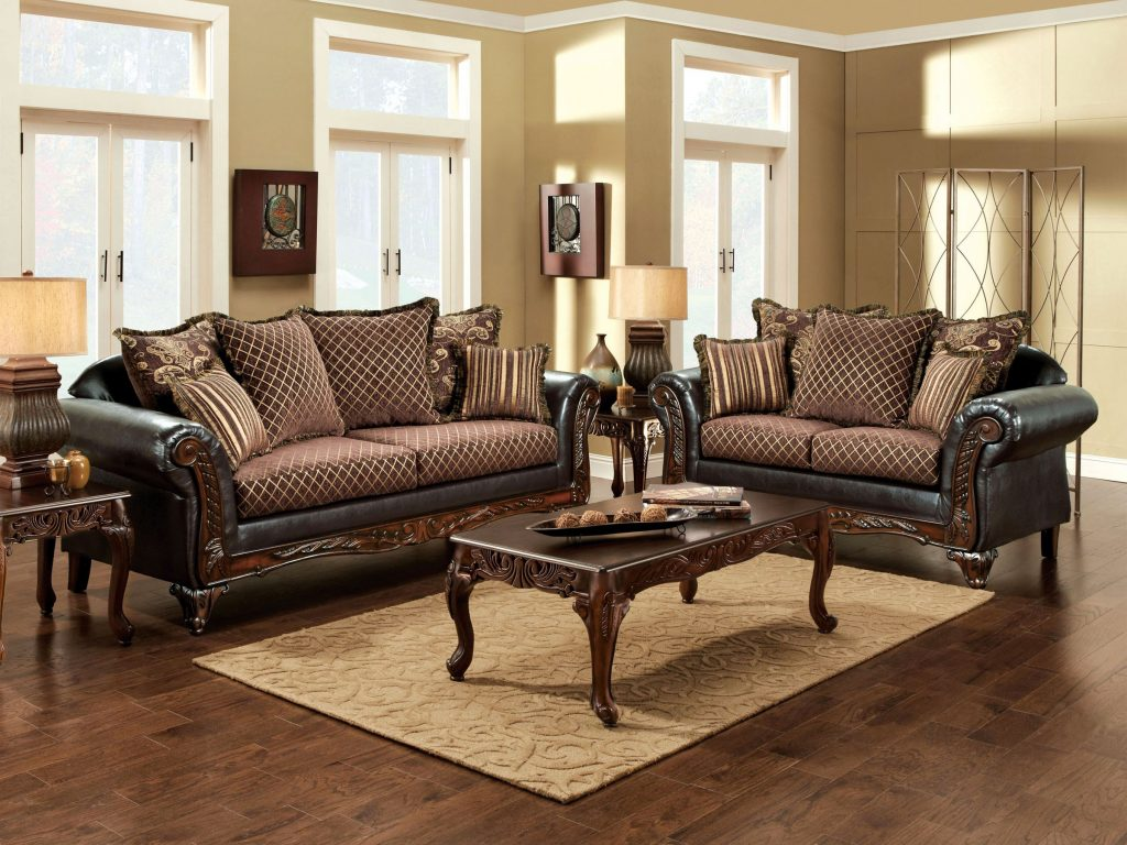 Shop Furniture Of America San Roque Living Room Set In Crosshatch