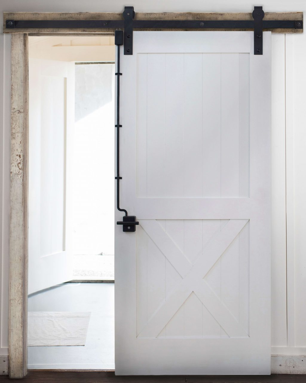 Sliding Barn Door Lock System In 2019 Farmhouse Barn Door Locks