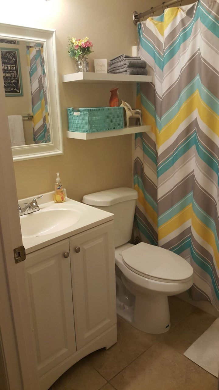 Small Bathroom Update Less Than 100 Lowes And Hob Lob