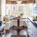 Small Kitchen With Alcove Banquette Seating Kitchens Small