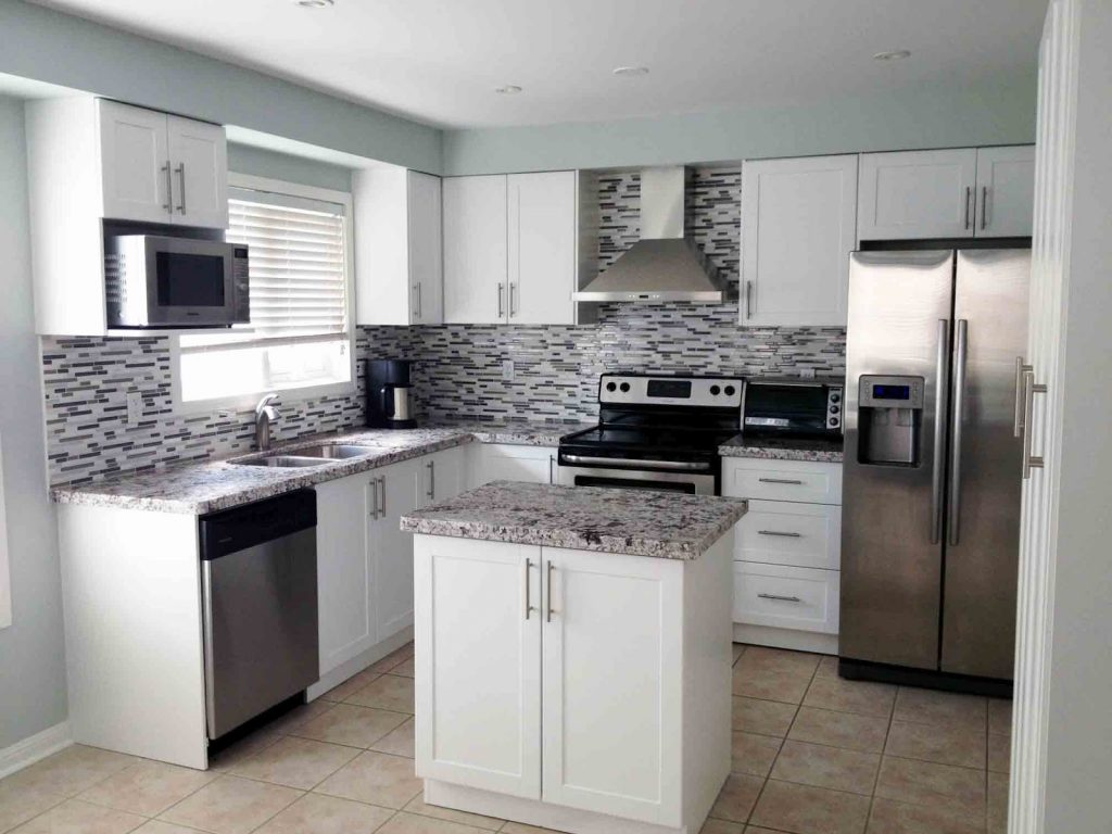 Small Kitchen With White Cabinets Design Yentua