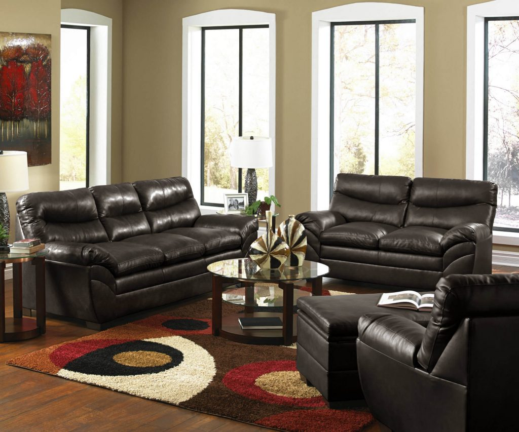 Soho Espresso Sofa And Loveseat Leather Living Room Sets