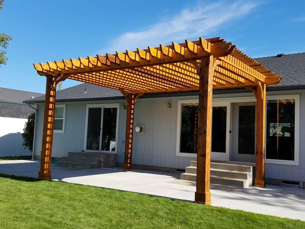 Solid Wood Patio Cover Pergola Kits Pergola Depot