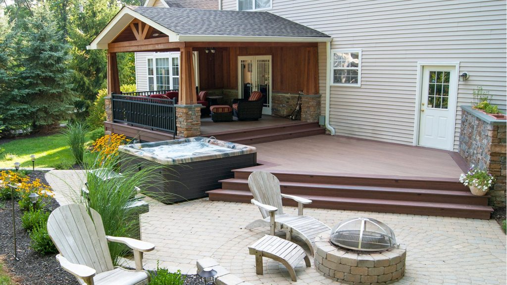 Splendid Deck And Patios Designs Ideas Backyards Simple Pictures For
