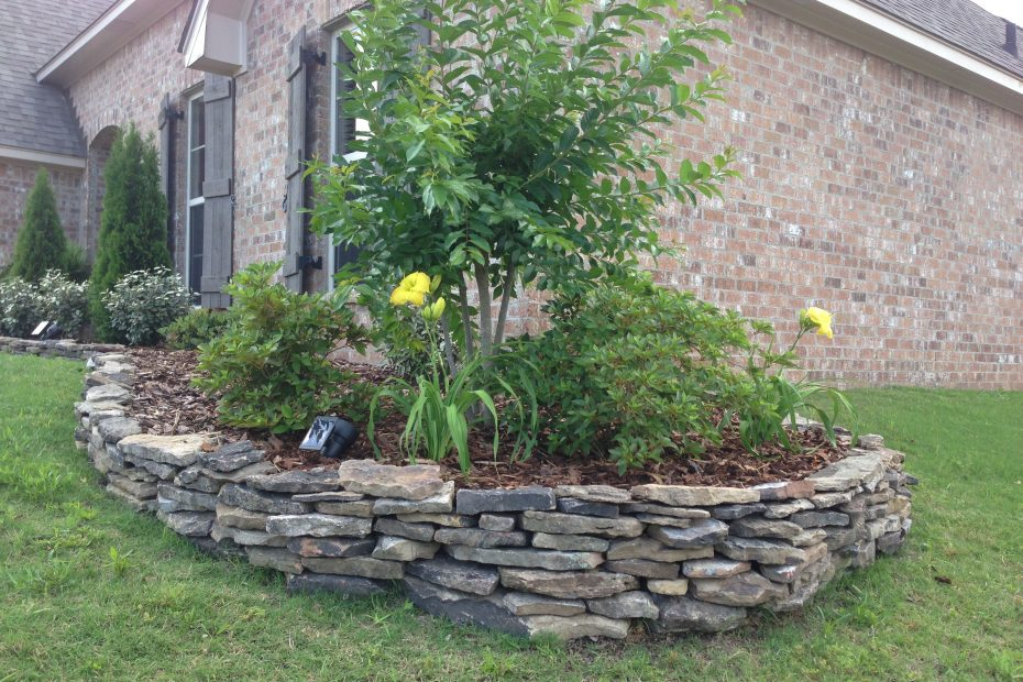 Stacked My Own Stone Flowerbed Border In A Couple Of Hours