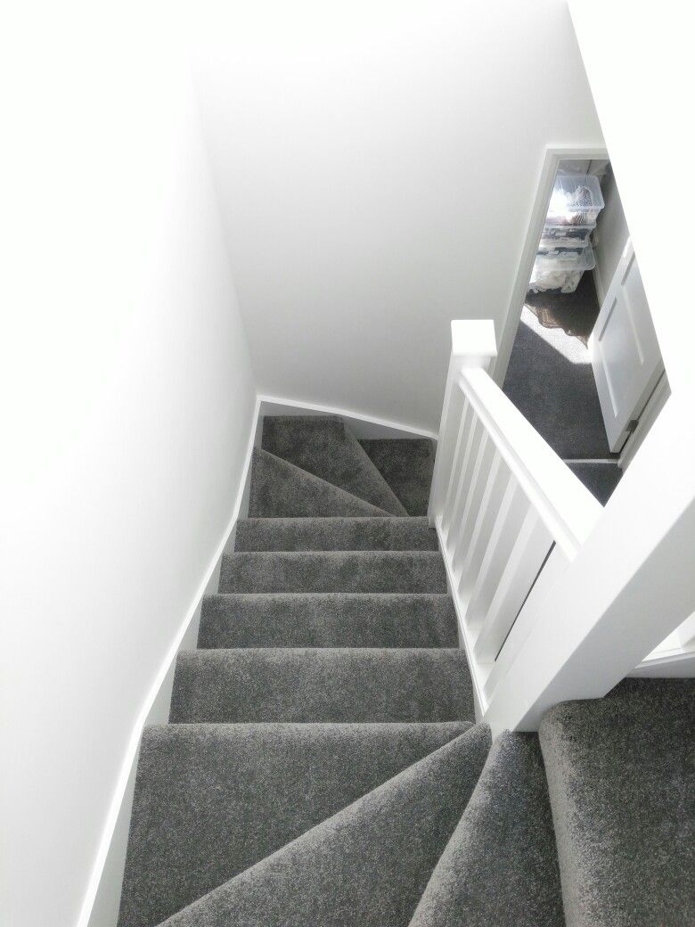 Stairs Grey Carpet White Walls Stairs In 2019 Grey Carpet