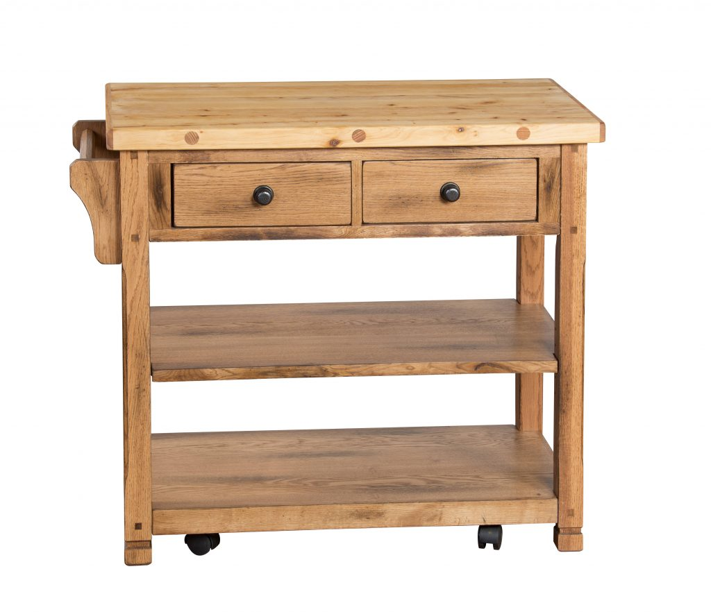 Sunny Designs Sedona Rustic Oak Kitchen Island Cart The Classy Home