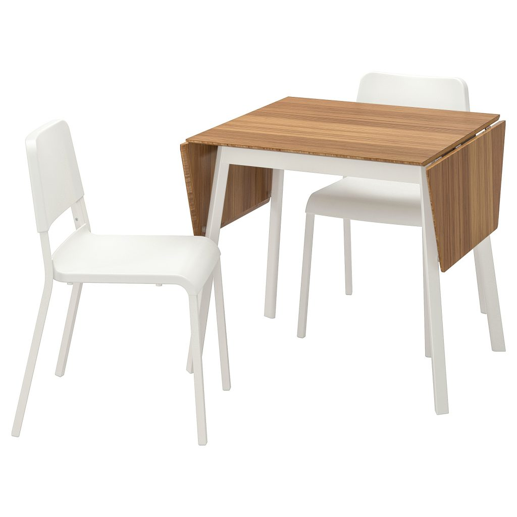 Table And 2 Chairs Ikea Ps 2012 Teodores Bamboo White White
