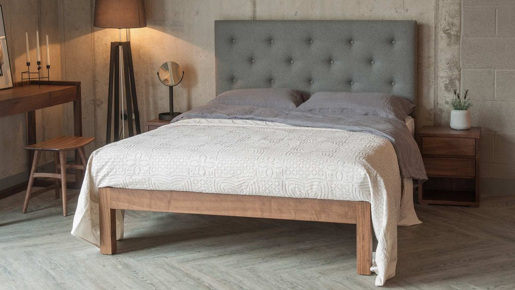 Tall Buttoned Headboard Bed Skye Blog Natural Bed Company