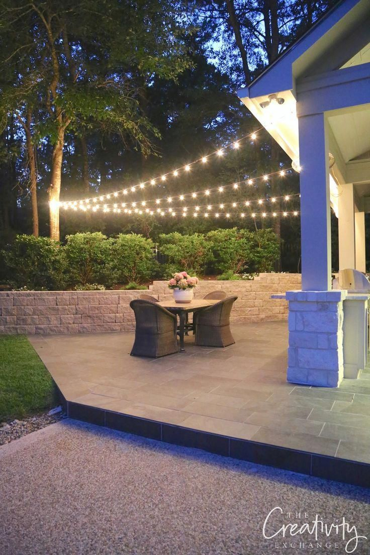 Tips For Hanging Outdoor Lights Patio Outdoordecor Outdoor