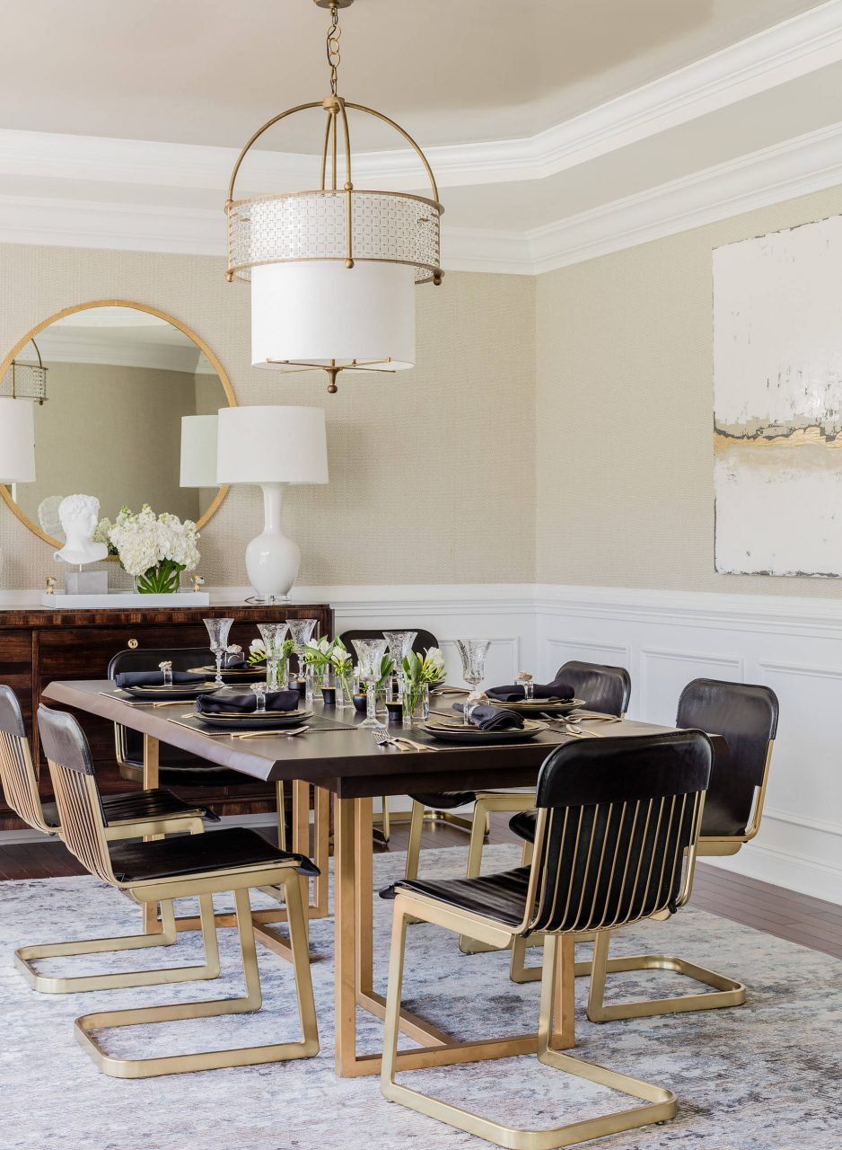 Transitional Dining Room Modern Glamorous Eclectic Kitchen Dining